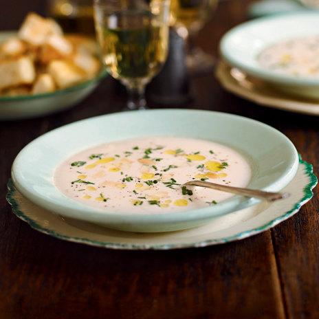 Миндальный суп с чесноком