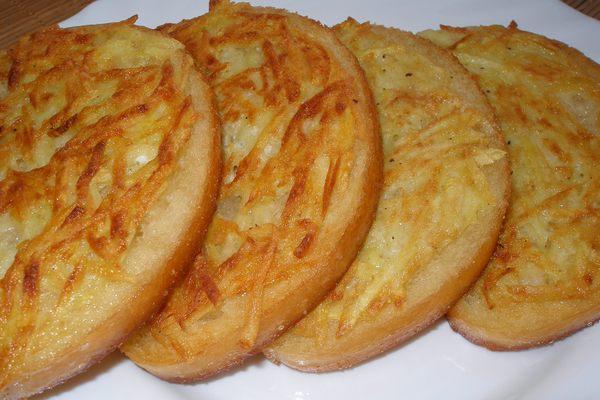 Гренки с картофелем к завтраку