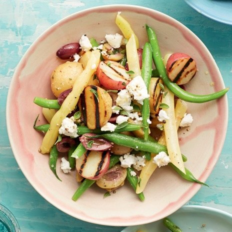 Салат с зеленой фасолью и картофелем