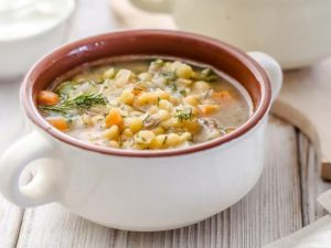 Овощной суп с ребрышками