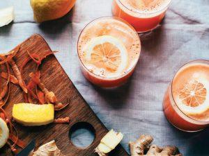 Морковно-имбирный лимонад