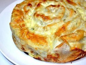 Пирог «Лаваш в заливке» с мясным фаршем