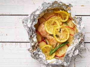 Лимонно-розмариновая курица с картофелем