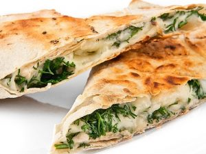 Лаваш с зеленью и сыром