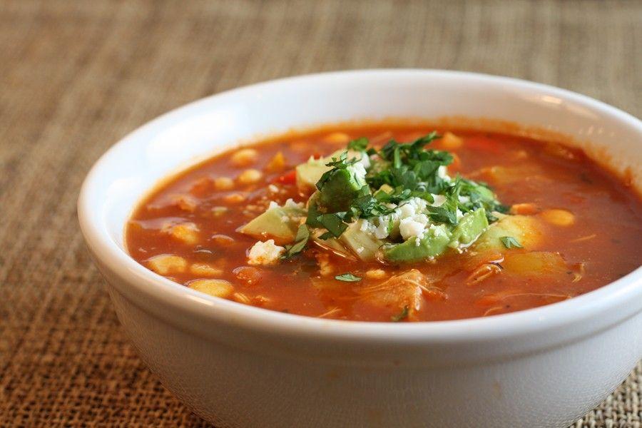 Пряный суп с болгарским перцем