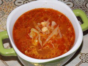 Суп с пастой и капустой