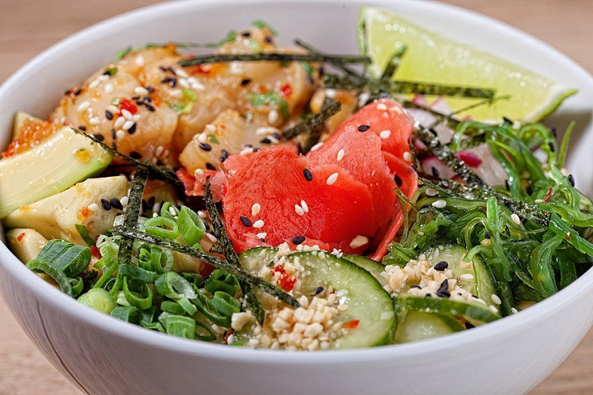 Салат из стручковой фасоли с домашним майонезом