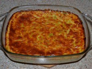 Кабачковая запеканка с плавленым сыром