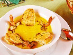 Рецепт тыквенного супа с креветками