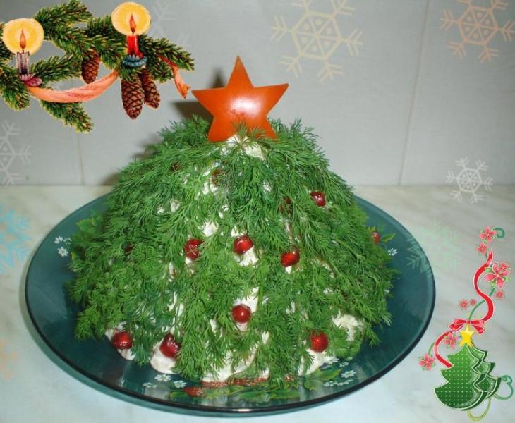Новогодний салат «Елочка»
