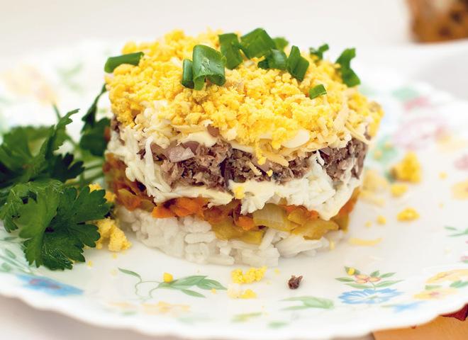 Салат «Мимоза»: рецепт с рисом