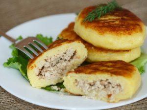Картофельные зразы с мясным фаршем