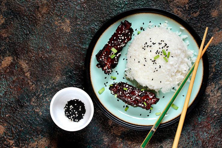 Рецепт острых ребрышек в азиатском стиле