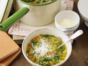 Суп с грибами и беконом