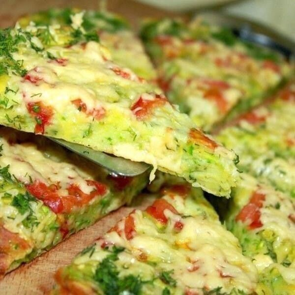 ПП Пицца на овсяно-кабачковом тесте