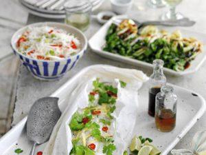 Салат из рисовой лапши