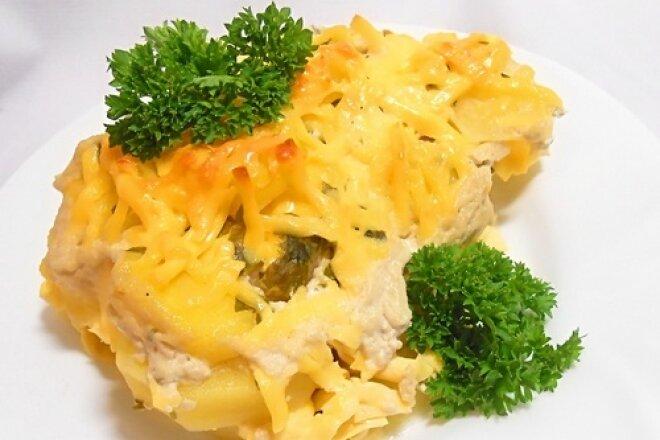 Картофельный гратен с сыром по-французски