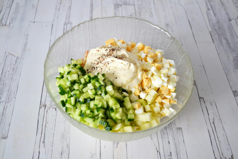 Салат с мясом криля