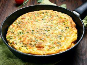 Омлет с сыром рикотта