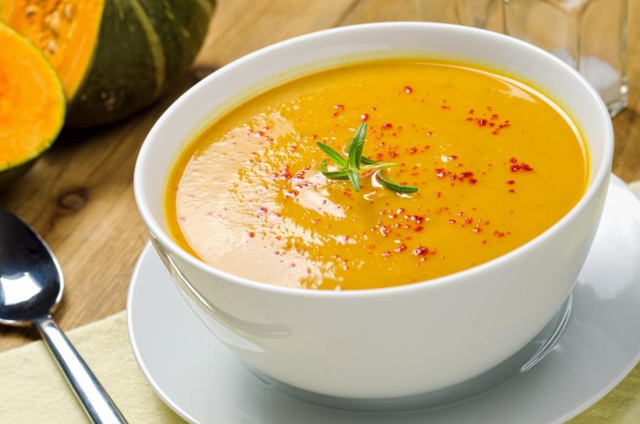 Суп из копченой рыбы и тыквы