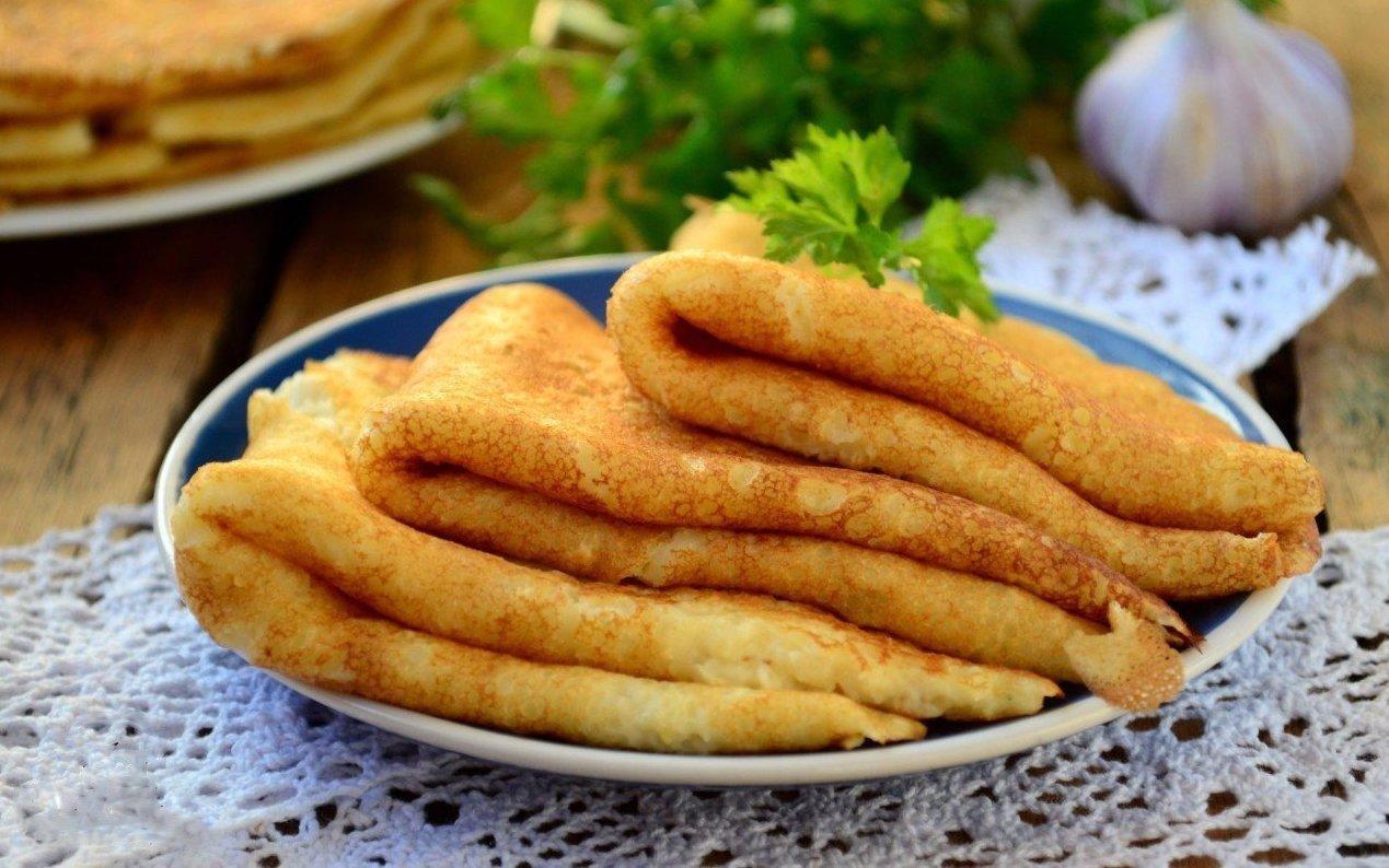 Тонкие картофельные блинчики