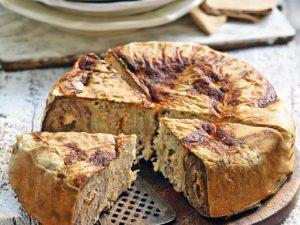 Ленивый мясной пирог с лавашем в мультиварке