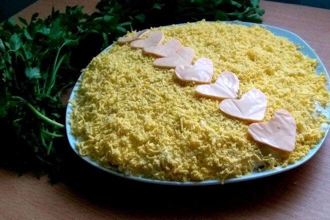 Салат Мимоза с консервированным тунцом