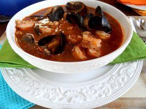Рецепт супа с морепродуктами по-итальянски