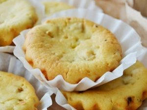 Творожные кексы с киви и бананом