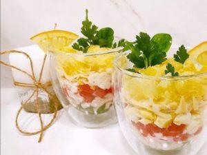 Салат с запеченной курицей и апельсином