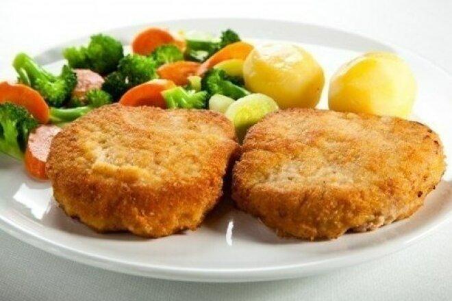 Картофельно-мясные шницели