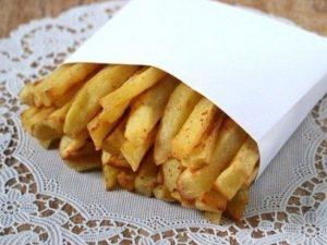 Картофель фри с яичным белком без масла