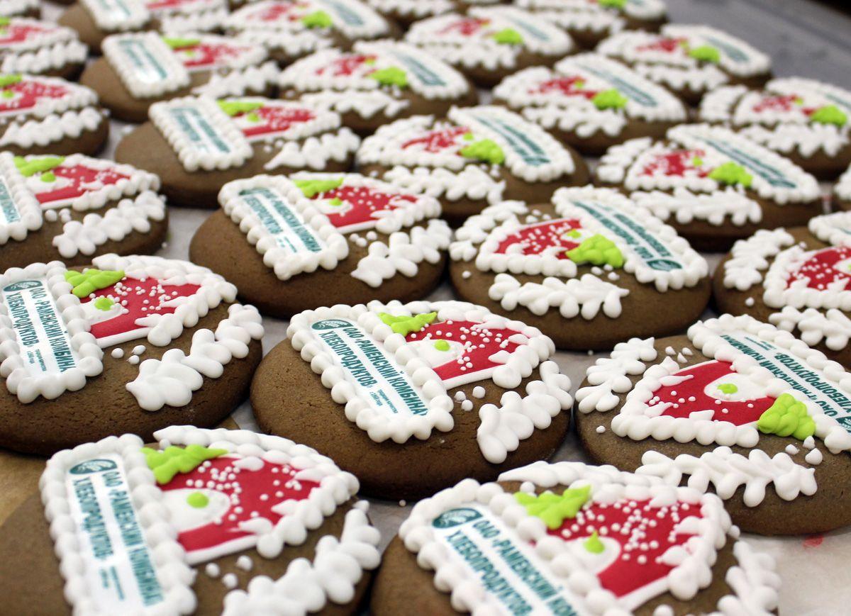 Виды печенья с логотипом