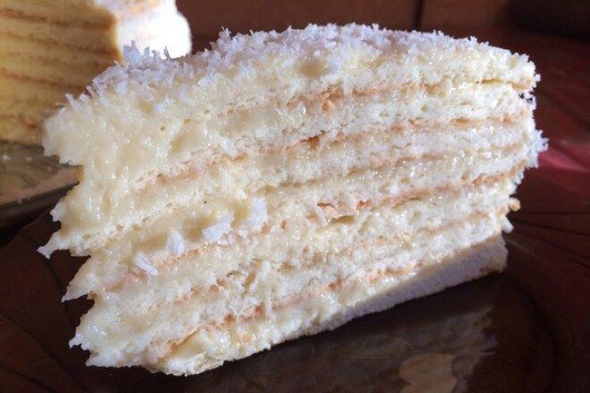 Торт «Рафаэлло» с кокосовым кремом