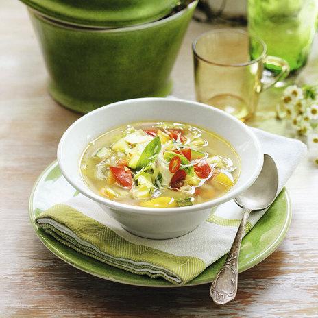 Суп минестроне с песто