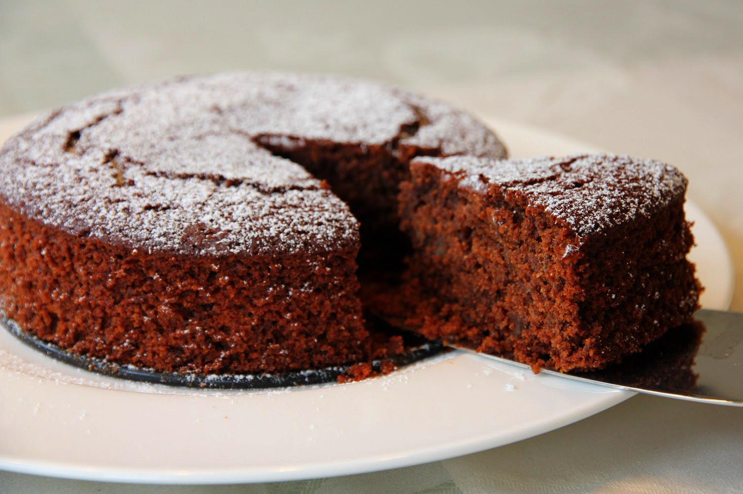 Шоколадный постный кекс