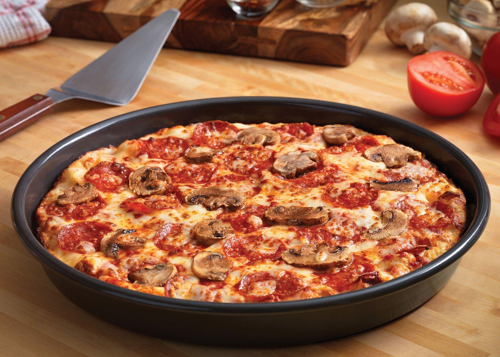 Пицца на сковороде за 5 минут