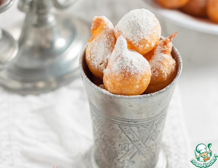 Французские заварные пончики «Пе-де-нонн»